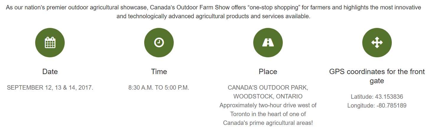 canadas outdoor farm show